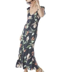 ASTR BLACK FLORAL MAXI DRESS