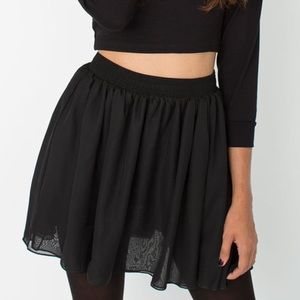 Chiffon by American Apparel Black Mini Skirt