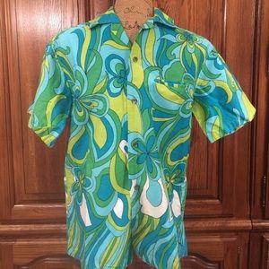 Vintage 60's Polynesian Bazaar Mod Hawaiian Shirt