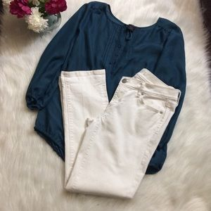 Ann Taylor LOFT modern cuffed cropped jeans