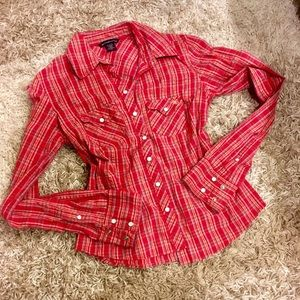 Abercrombie & Fitch Plaid Button Down XS