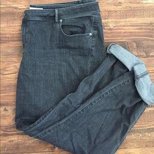 Loft curvy skinny dark grey jeans