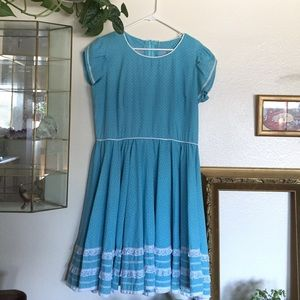 Vintage Light Blue Dress