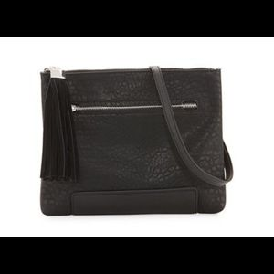 French Connection pebbled faux-leather clutch bag