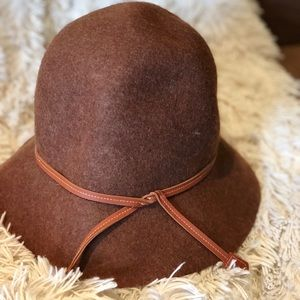 Saks Brown Felted Wool Crusher Hat