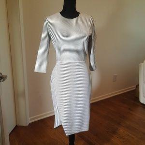 Stripped Dress - Fun Hem Line