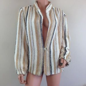 Vtg 80s DonnKenny jacket blazer coat plus size 2X