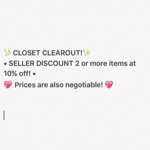 ✨CLOSET CLEAROUT!✨