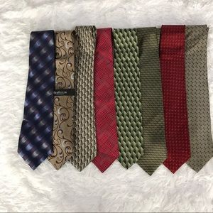 Lot of 8 100% Silk Ties