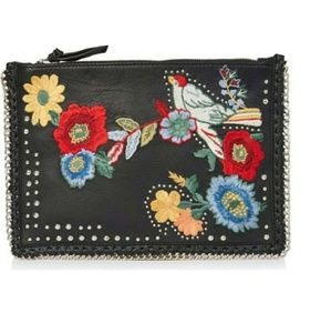 NWOT TopShop Embroidered crossbody