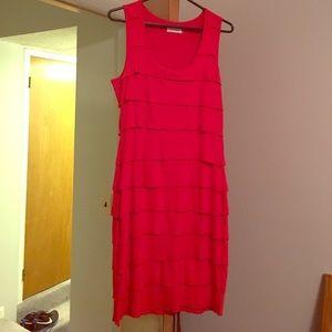 Flirty red scoop neck  dress