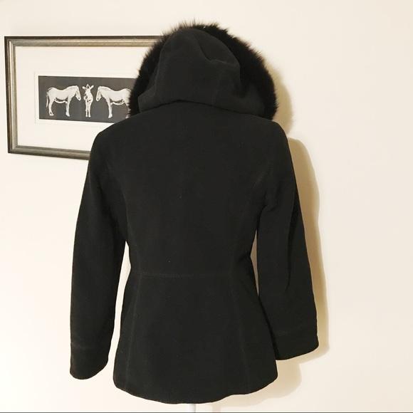 72% off SACHI Jackets & Blazers - Sachi Genuine Fox Fur Trim ...