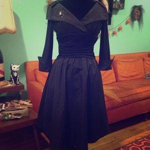 Eliza J Witchy Black 1950s inspired dress