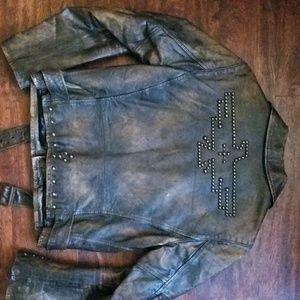 6a9616153d Ralph Lauren RRL Jackets   Coats - RRL Double RL Leather Moto Jacket