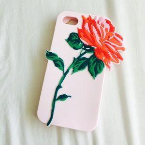 Accessories - Cute Rose Pastel Silicone Iphone Case