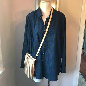 Plus Size wrinkle resist button down blouse NWOT