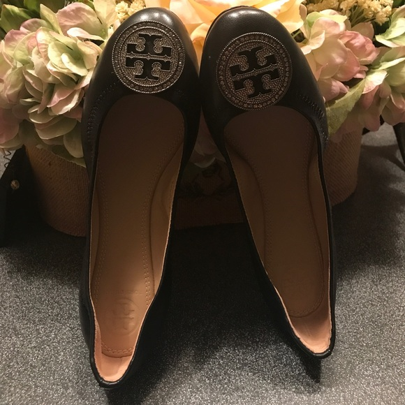 New Authentic Tory Burch Liana Embellished Ballet