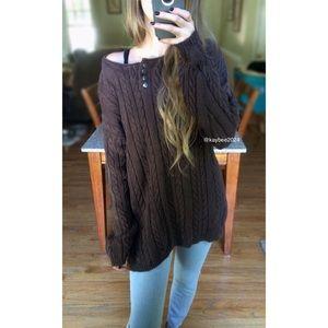 🍁 Vintage Carolina Chunky Henley Cable Knit 🍂