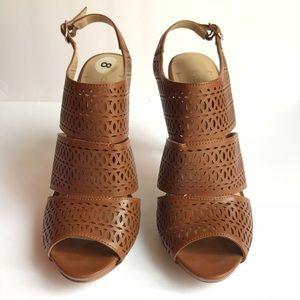 {bcbgeneration} brown high heel shoes