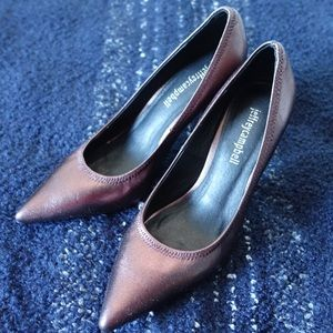 Jeffrey Campbell Metallic Leather Pumps