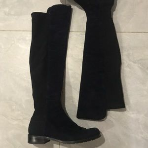 Genuine Stuart Weitzman 5050 boots in navy size 6