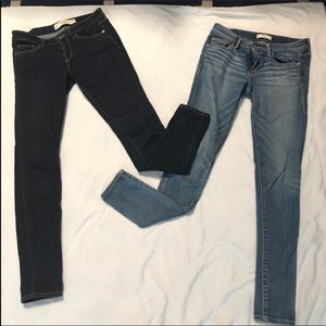 2 pairs Abercrombie skinny legging jegging jeans