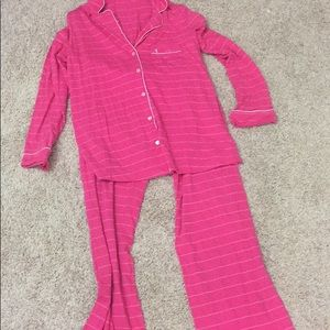 Victoria's Secret pink pajama set medium long