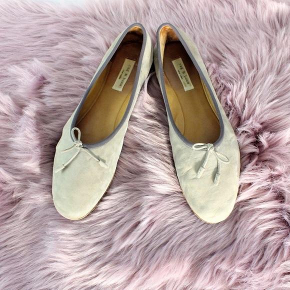 3c41a46c7 Rag & Bone Windsor Suede Ballet Flats Taupe 41