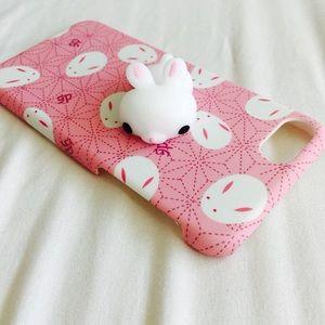 Accessories - Squishy Pink Bunny Rabbit Hard TPU Iphone case