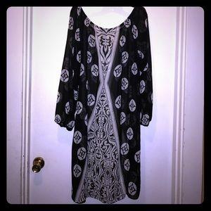 Lane Bryant sz 18/20 Black and White dress