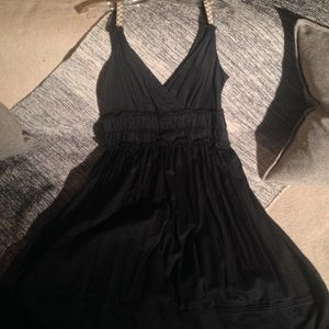 CALVIN KLEIN-Sleeveless Empire Waist Midi Dress