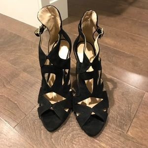 Zara cutout strap heels!! Good condition!!!