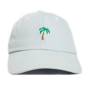 🌴Palm Tree Denim Dad Hat