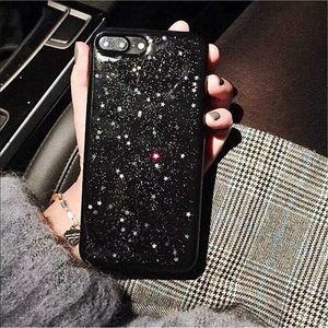 Accessories - Cute Sky with Glitter Stars Iphone Case