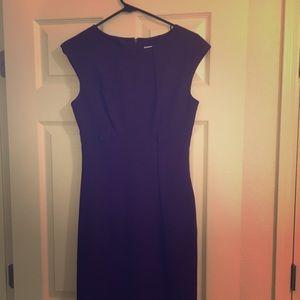 Calvin Klein size 2 purple dress with belt.