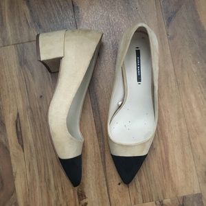 Zara cap toe pumps