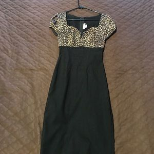 Pinup couture leopard/black dress