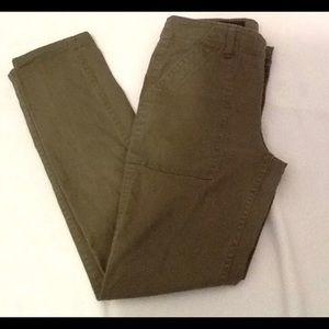 J.Crew Skinny Utility Cargo Army Green Pants