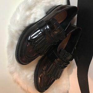 Zara Burgundy Loafers