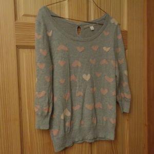 Lauren Conrad Heart Sweater {M}