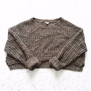 Urban Outfitters Ecote Cropped Chunky Knit Sweater