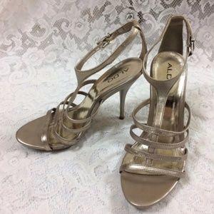 Aldo Gold Strap High Heels