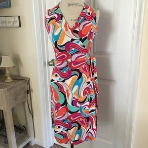 Banana Republic Wrap Dress XS S Multi Color