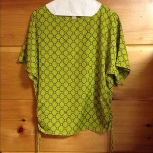 Michael Kors green blouse top shirt XS
