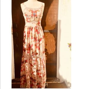 Love Fire Floral Maxi  Size XS