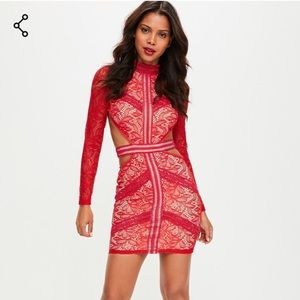 Red Lace Dress Sz. XS