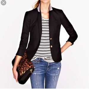 Just dry cleaned j.crew schoolboy blazer black