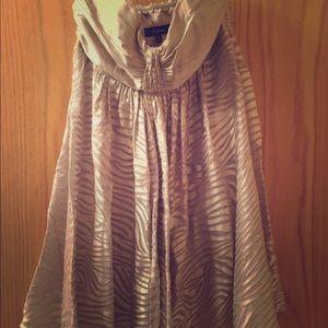 Leopard Gold Strapless Dress