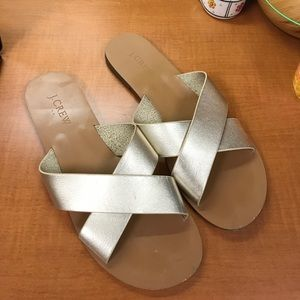 J.Crew Leather Criss Cross Sandals