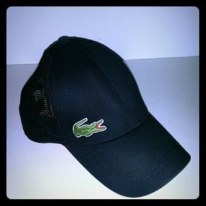 Lacoste Sport Black baseball hat/ Cap  with green